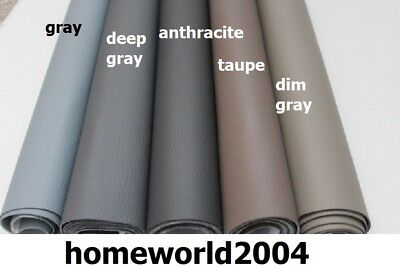 Faux Leather Upholstery Fabric Leatherette Fire Retarded Vinyl GREY SHADES