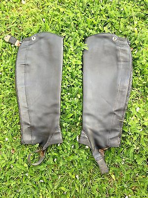ariat Ladies Close Contact Gaiters Chaps Black S M Height Riding Yard Showing