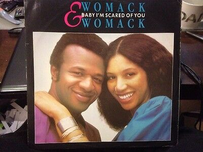 "* WOMACK & WOMACK - Baby I'm Scared Of You 12"" Record Single Vinyl 1983 E9733"