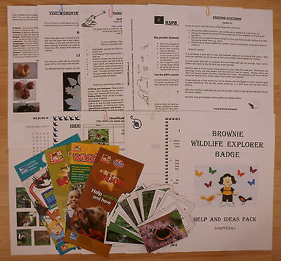Brownie Guide Wildlife Explorer Badge - Help and Ideas Resource Pack