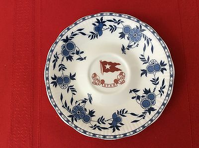 1912 RMS TITANIC 2nd Class SAUCER Blue Delft Pattern WHITE STAR LINE