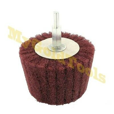 Colonne cone satinage Roue tampon brosse polissage diam 75 mm tige 6 mm 262194