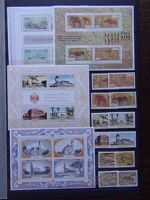 South West Africa 1975 Painter 1976 Paintings 1978 Animals House set + M/S MNH