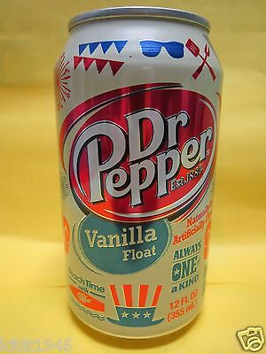 Dr Pepper Vanilla Float Limited Edition Full 12 Ounce Can Rare Pepsi On Label