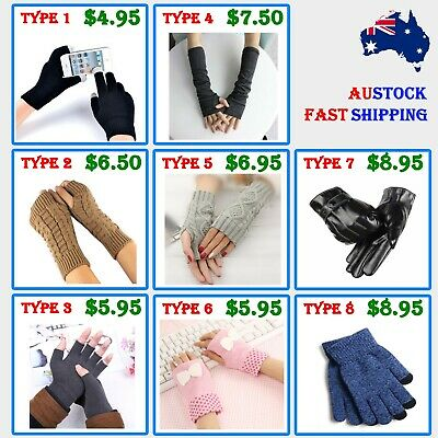 Men Women Unisex Winter Gloves Glove New Fashion Knit Wool Touch Screen *aus*