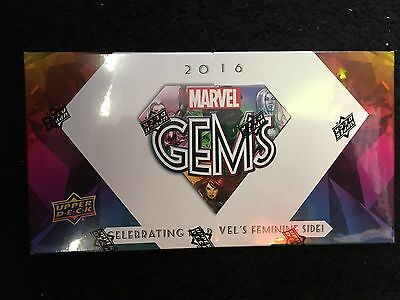 2016 Marvel Gems - Upper Deck Exquisite - Sealed Hobby Box
