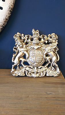 Resin Coat of Arms in Silver Coat of Arms  Royal crest in antique silver finish
