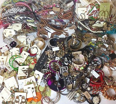 New Designer Mixed Jewelry Grab Bag Lot - Earrings, Necklaces & Bracelets