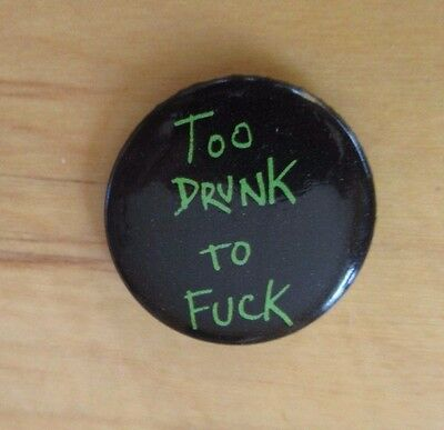 Supreme Dead Kennedys Too Drunk To F*ck Button/Pin