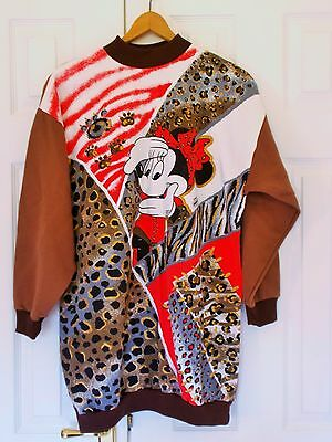True Vintage Minnie Mouse Sweatshirt Baggy Oversize Jumper Americanwear Retro