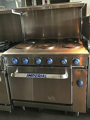 "IMPERIAL- 36"" (6) SIX BURNER ELECTRIC STOVE WITH OVEN - Mode  IR6-E"