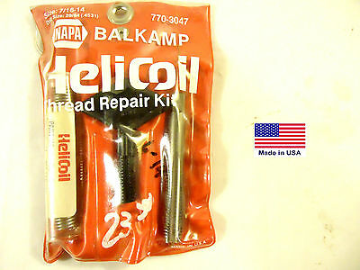 "Helicoil Brand Thread Repair Kit, 7/16""-14, Pkg'd. for NAPA Part #770-3047, New."
