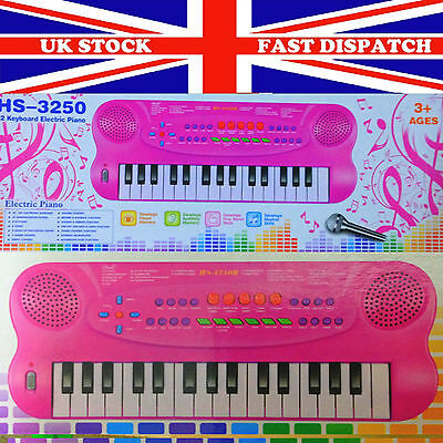 Electronic Pink  Piano Keyboard Rock-star Type With Tune Set  kids Toy