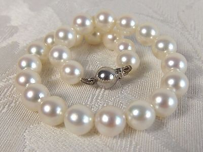 7mm uniform Japan Akoya pearl bracelet 18ct gold clasp smooth mirror shine nacre