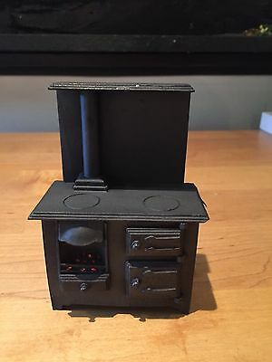 Doll House 12th Scale Miniature Metal Stove.