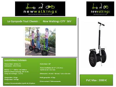gyropode line up inmotion PROFESSIONNEL segway new walkings