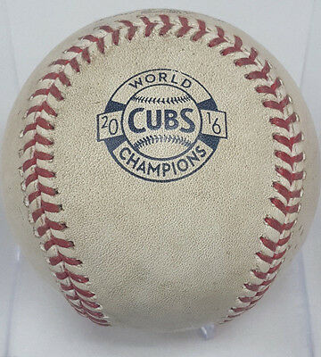 2017 CHICAGO CUBS OPENING DAY GAME USED BALL vs DODGERS 4/10/17 MLB #JB747096