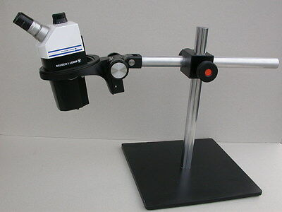 Microscope loupe binoculaire Bausch & Lomb stereo zoom 7 pied deporté
