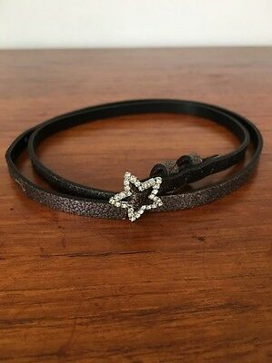 Bonpoint - Girls Leather Belt - Bronze Brown - Diamond Star Buckle - Perfect