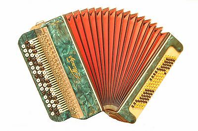 Excellent Russian Folk Button Chromatic Accordion Bayan TEMBR  Тембр Super sound