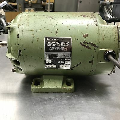 Brook Motors Gryphon 0.66HP 3-Phase Electric Motor