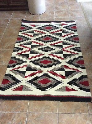 Authentic Native American Rug in Pristine Condition/at least 85 years old.
