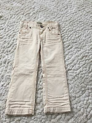 Burberry Unisex Age 4 Denim Cream Jeans Bnwot
