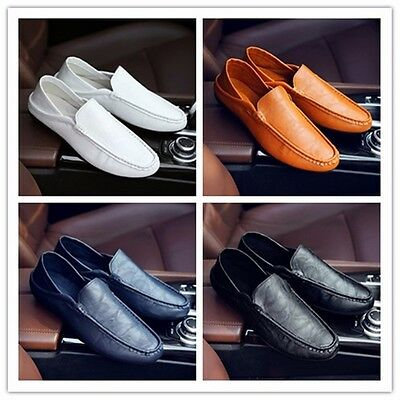 Fashion Men's leather Breathable Recreational Shoes Casual shoes Driving shoes