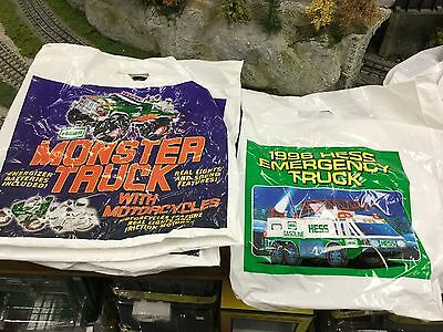 Hess Toy Trucks Plastic Bags. 20 Assorted Some Multiples  Hard To Find