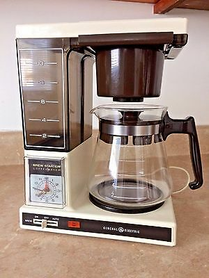 Vintage GE General Electric B5DCM15 Brew Starter Coffeemaker with Clock 10-Cup