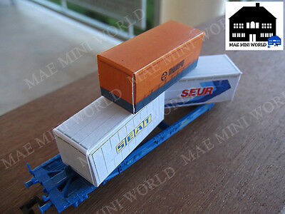 3 Container 20ft Replica Ibertren Escala N. MAE Mini World