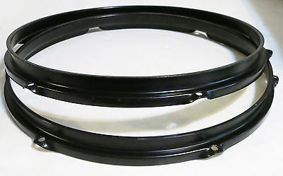 """RARE 1980's BLACK SONOR 13"""" DRUM TOM HOOPS (Phonic Hi-Tech/Panther) FREE SHIP!"""
