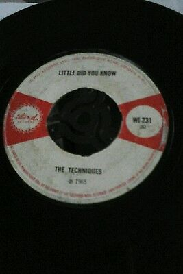 "Little Did You Know-The Techniques.Vinyl 7""45rpm.Island.gd+"