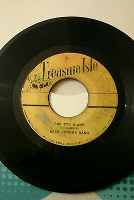 "ONE EYED GIANT-BABBA BROOKS.VINYL 7""45rpm.TREASURE ISLE IS.VGC"