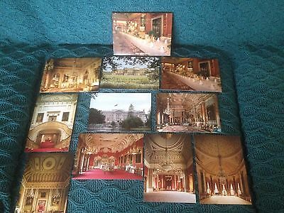 """Buckingham Palace """"The State Rooms"""" 10 Postcard Set"""