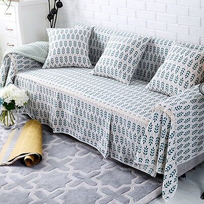 Floral Cotton Linen Slipcover Sofa Cover oukr Protector for 1 2 3 4 seater ly