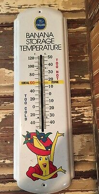 Vintage Chiquita Banana Storage Temperature.thermometer Is Not Included