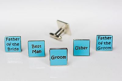 Mens Turquoise Wedding Cufflinks - Groom Best Man Usher Father Of Bride/Groom W8