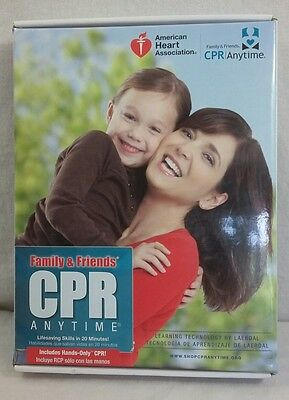 NEW Family & Friends CPR Mini Anne Manikin Anytime Kit DVD English & Spanish