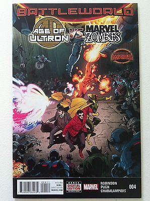 Age Of Ultron Vs. Marvel Zombies #4 Secret Wars Battleworld Nm 1St Printing 2015