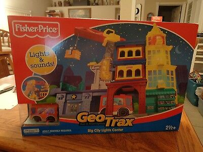Fisher Price Geotrax Big City Lights Center New In Factory Sealed Box