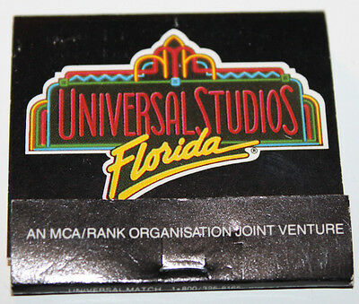 Univeral Studios Florida USA Matchbook Match Heads Cut Off