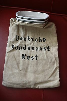 Deutsche Bundespost West Postsack Leinen Sack alt