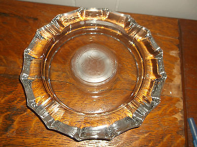 US Senate United States heavy glass ashtray vintage frosted seal America