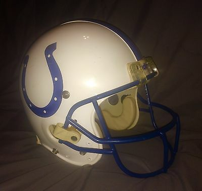 INDIANAPOLIS COLTS Game Used Football Helmet PHOTOMATCH Playoffs #7 Danny Kight