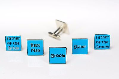 Mens Teal - Wedding Cufflinks  Groom Best Man Usher Father Of Bride/Groom    W11