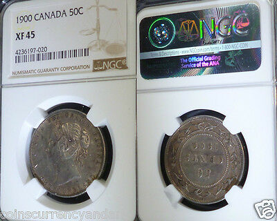 1900 Canada, Newfoundland  (50) Fifty Cents , Ngc Certified Xf45