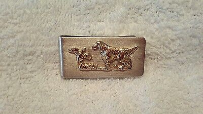 Vintage sterling silver and gold money clip