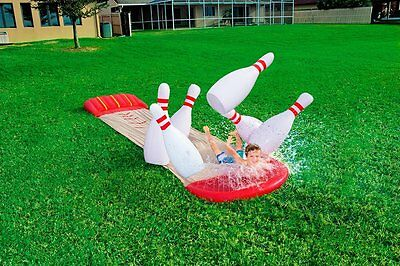 EXTRA LARGE Bestway H20 Go Inflatable Bowling Water Slip & Slide + Ramp - 18ft