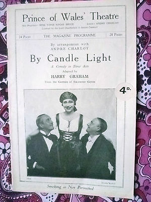 Prince of Wales Theatre Programme- BY CANDLE LIGHT by Harry Graham